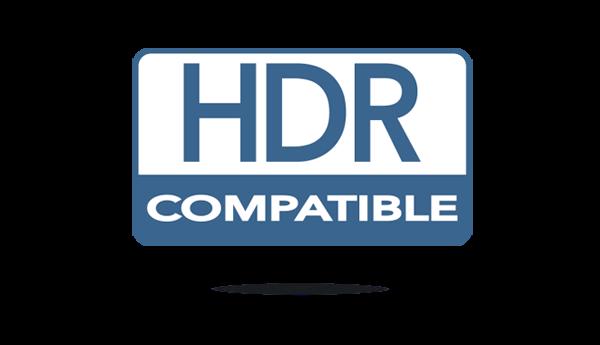 Compatible con HDR y HDR