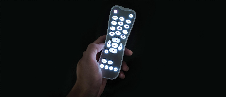 Control remoto retroiluminado