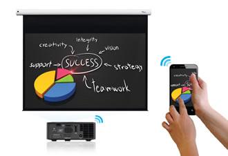 Podrás hacer streaming wireless de tu dispositivo Apple y MAC a tu proyector directamentel.